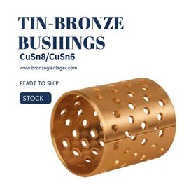 Tin Bronze DIN CuSn8 Flange Sleeve Bushings DIN ISO/3547,High Quality